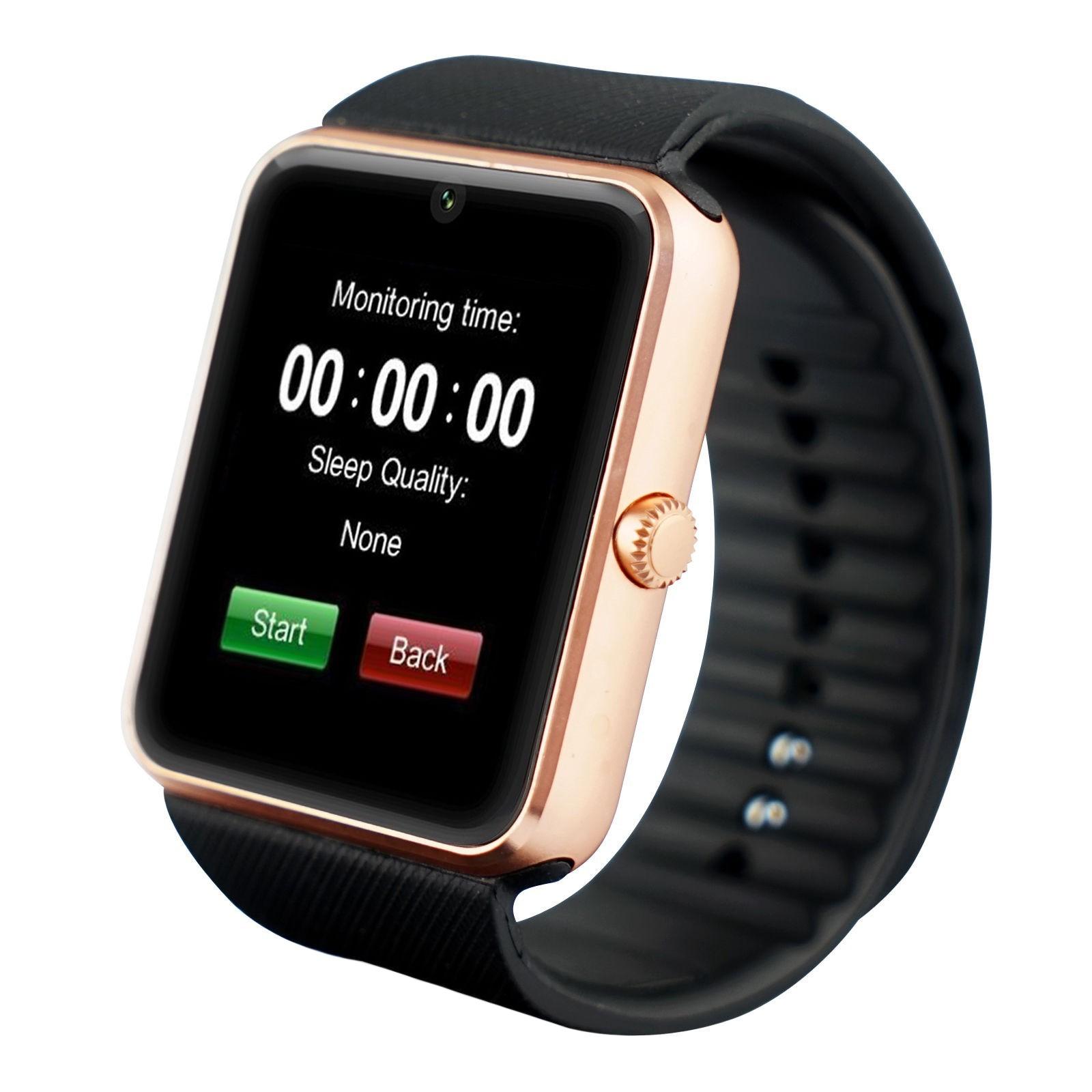 Smartwatch U-Watch GT08 Bluetooth Auriu Compatibil SIM, MicroSD poza 2021