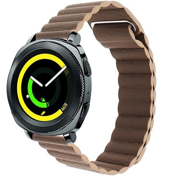 Curea piele Smartwatch Samsung Gear S2, iUni 20 mm Brown Leather Loop