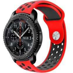Curea ceas Smartwatch Samsung Gear S3, iUni 22 mm Silicon Sport Red-Black