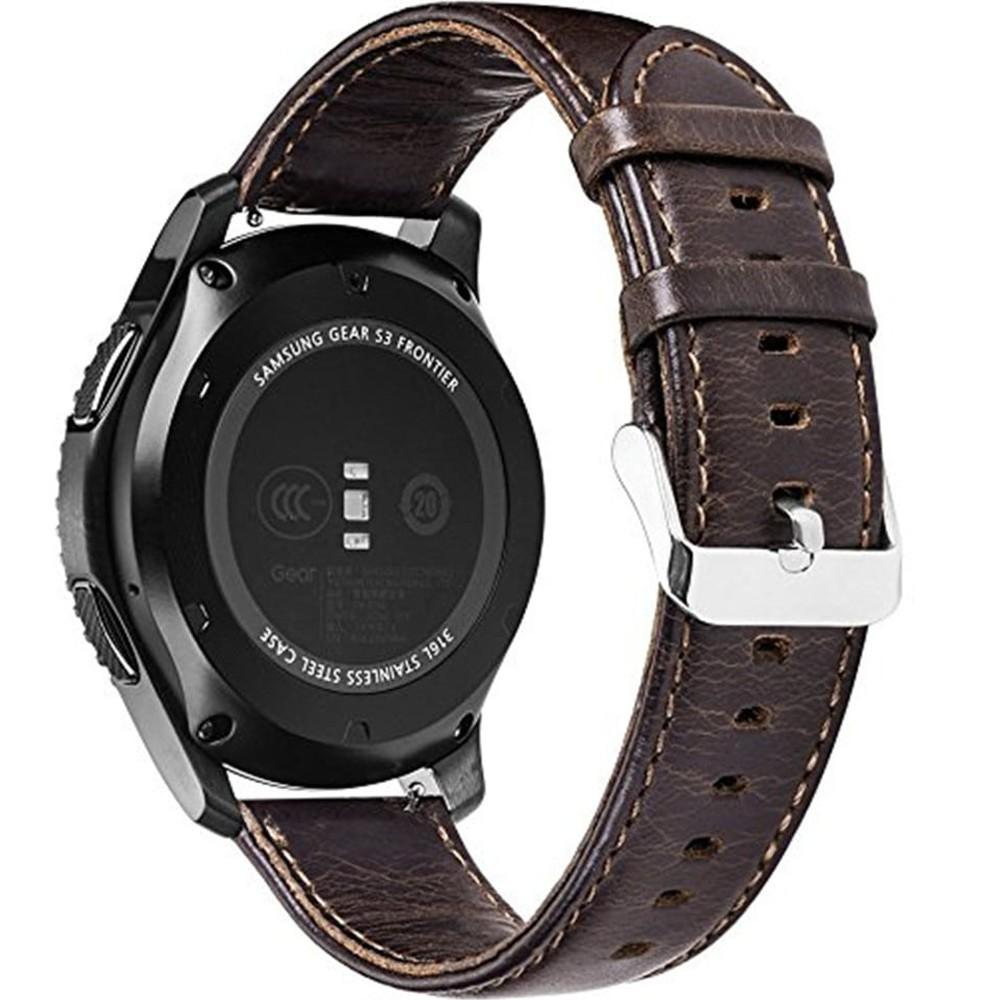 Curea piele Smartwatch Samsung Gear S2, iUni 20 mm Vintage Dark Coffee