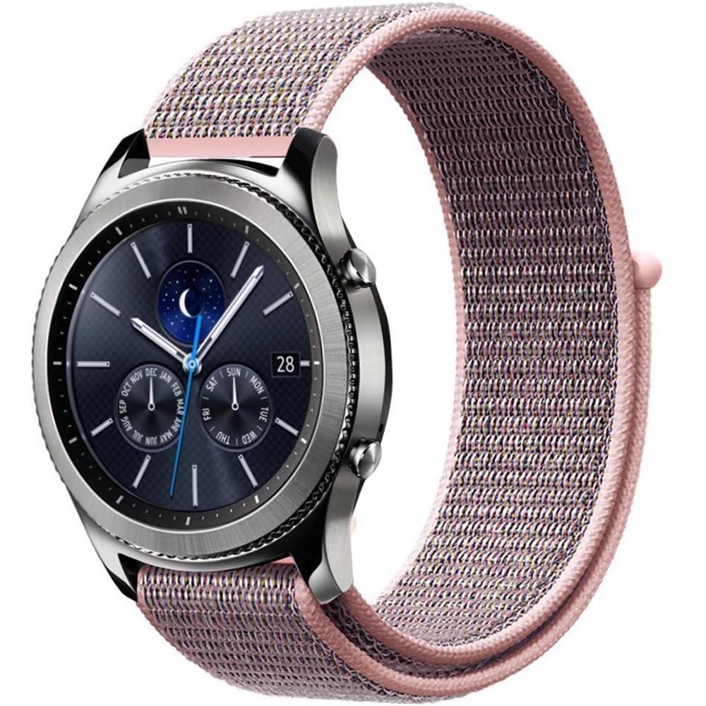 Curea ceas Smartwatch Samsung Gear S2, iUni 20 mm Soft Nylon Sport, Soft Pink imagine techstar.ro 2021