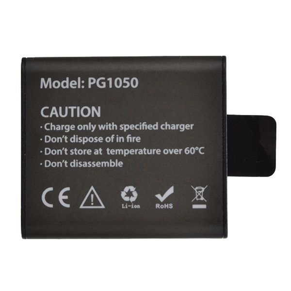 Acumulator Reincarcabil PG1050, compatibil cu EKEN, SJCAM, si orice Camera Sport OEM, Li-Ion 1050mAH imagine techstar.ro 2021