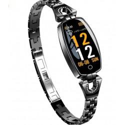 Bratara Smart Fitness Sport Waterproof si Eleganta pt Dama H8 cu Monitorizare Somn si Cardiaca