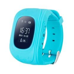 Ceas Smartwatch pentru Copii Albastru Q50 Slot Cartela SIM, GPS Tracker, Buton Urgenta SOS, Monitorizare Live
