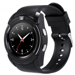 Ceas Smartwatch V8 Negru HandsFree Bluetooth 3.0 Micro SIM Android Camera 1.3MP