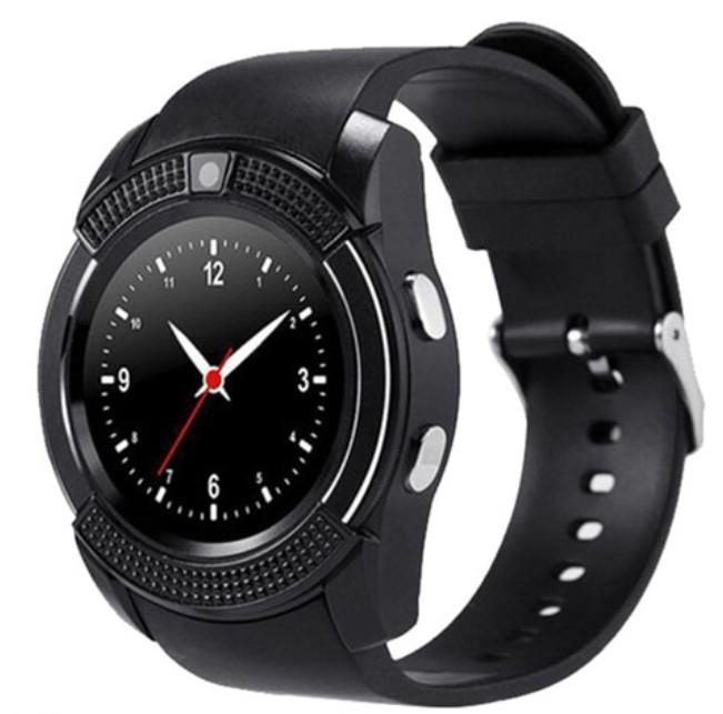 Ceas Smartwatch V8 Negru HandsFree Bluetooth 3.0 Micro SIM Android Camera 1.3MP poza 2021