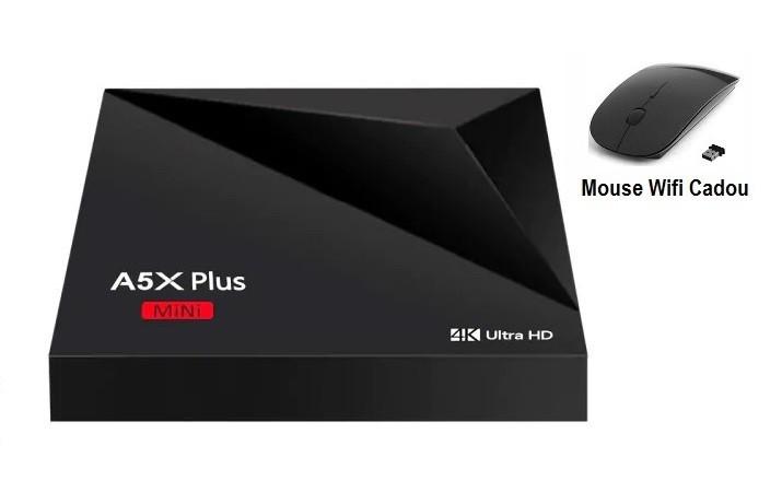 Media Player, Smart TV Box 4K, A5X Plus Mini Android 9.0, 2gb/16gb, Wifi, Netflix