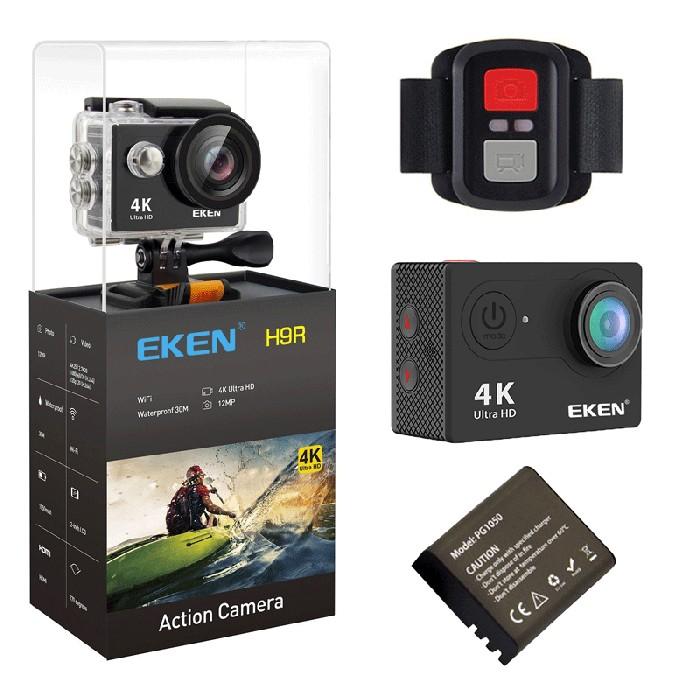 Camera Video Sport Originala EKEN H9R UltraHD 4K WiFi Waterproof 12MP Ecran 2inch Unghi 170 Grade Telecomanda 2.4G imagine techstar.ro 2021