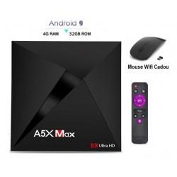 Mini PC TV Box, Media player 4K, A5X Max Android 9.0, 4gb/32gb 4k, Bluetooth, Netflix