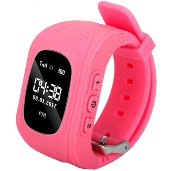 Ceas Smartwatch copii GPS Tracker iUni Q50, Telefon incorporat, Apel SOS, Roz imagine techstar.ro 2021