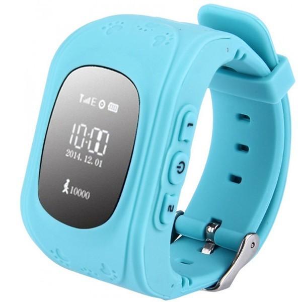 Ceas Smartwatch copii GPS Tracker iUni Q50, Telefon incorporat, Apel SOS, Albastru