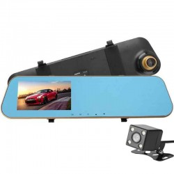 Camera Auto Oglinda iUni Dash N8, Dual Cam, Display 4.3 inch, Full HD, Night Vision, WDR, 140 grade, by Anytek