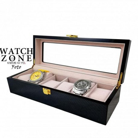 Cutie depozitare și expunere pentru 6 ceasuri PREMIUM