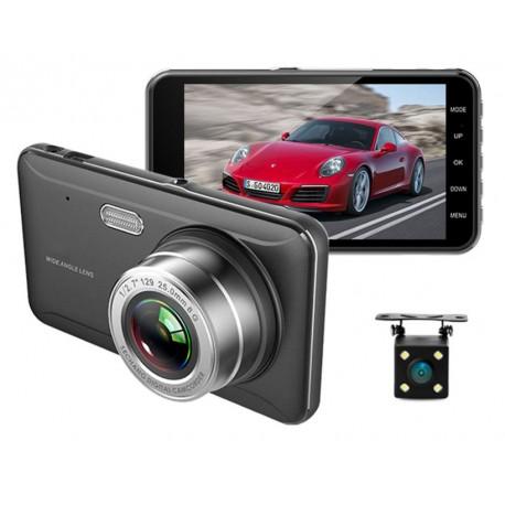 """Camera Video Auto DVR Dubla FullHD Techstar® A17 Unghi 170° Display 4"""", Senzori Miscare si Night Vision"""