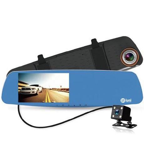 Camera Auto Oglinda iUni Dash 832, Dual Cam, Full HD, Night Vision, G Senzor, Unghi 170 grade