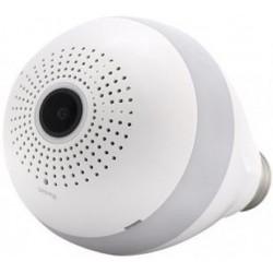 Bec cu camera Spion iUni B008 SpyCam, Wi-Fi/IP si Senzor de Miscare, Unghi 360 grade