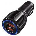 Incarcator Auto Dual 2 USB Techstar® Qualcomm Quick