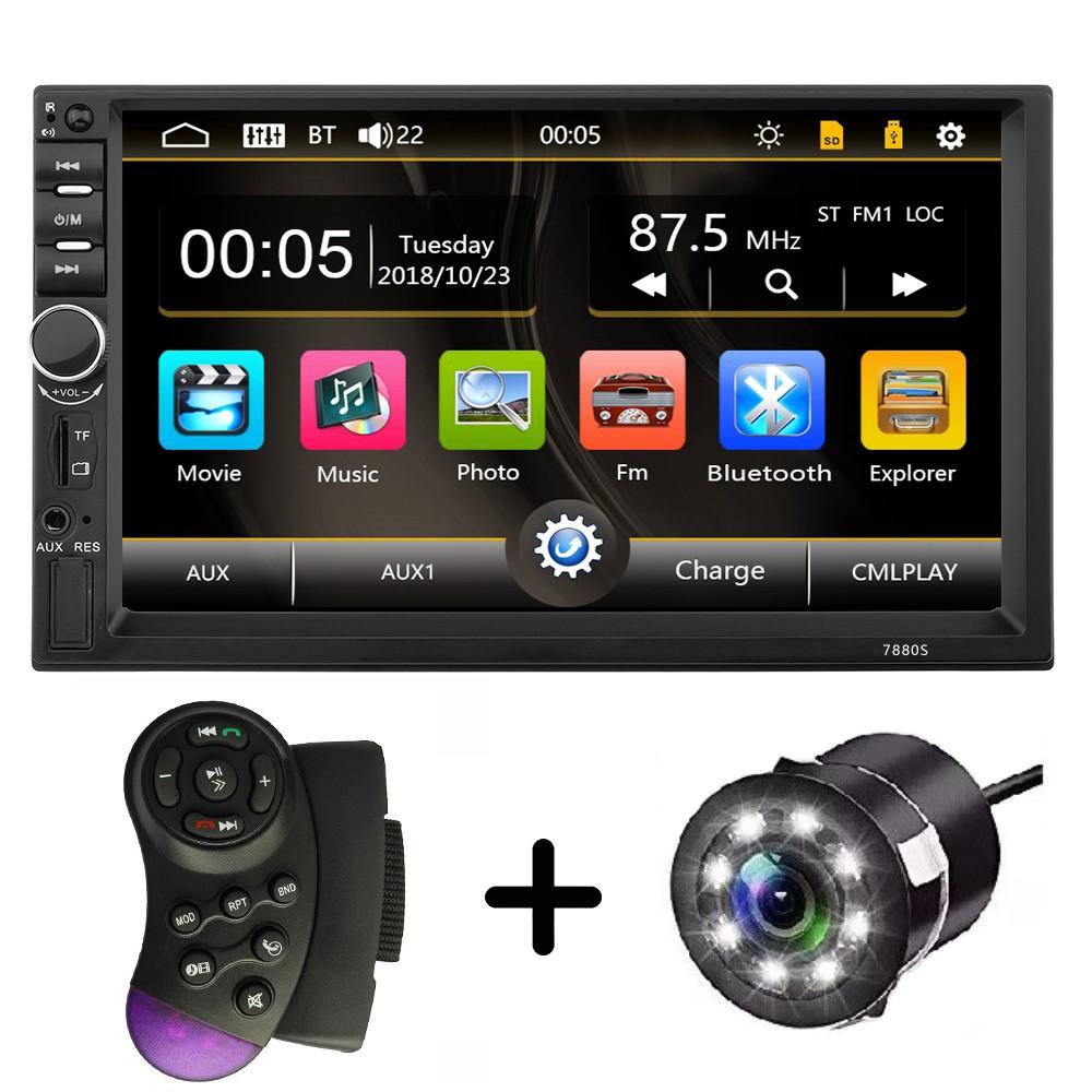 MP5 Player Universal 2DIN 7880S cu Camera de Marsarier HD Ecran 7 Inch Bluetooth MirrorLink Android IoS imagine techstar.ro 2021
