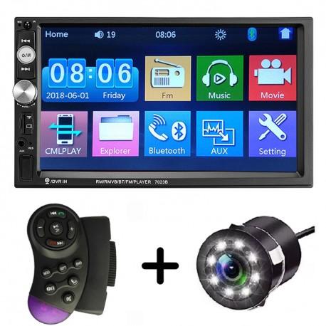 Navigatie Auto Universala 7023B MP5 Player Windows Camera de Marsarier 2DIN HD Ecran 7 Inch Bluetooth MirrorLink Android IoS