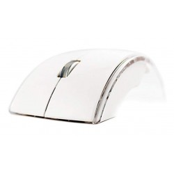 Mouse Wireless Pliabil M2 Alb 2.4G Optic USB Receiver Pentru Laptop PC