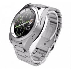 Smartwatch Business Class G6 Argintiu Bluetooth 4.0 Pedometru, Consum Calorii, Pasi, Monitorizare Somn Compatibil IOS si ANDROID
