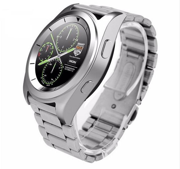 Smartwatch Business Class G6 Argintiu Bluetooth 4.0 Pedometru, Consum Calorii, Pasi, Monitorizare Somn Compatibil IOS si ANDROID poza 2021