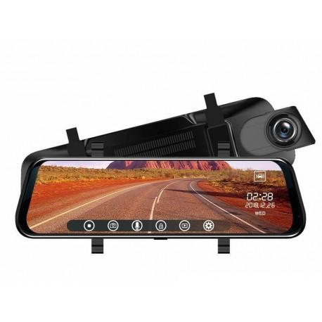 Camera Video Auto Premium Tip Oglinda T108 Dubla Full HD Ecran TouchScreen 10'' 12MP Unghi 170 Grade