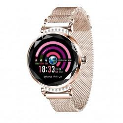 Smartwatch Fitness Sport Waterproof Auriu Elegant pt Dama H2 cu Monitorizare Somn si Cardiaca