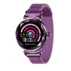 Smartwatch Fitness Sport Waterproof Mov Elegant pentru Dama H2 cu Monitorizare Somn si Cardiaca