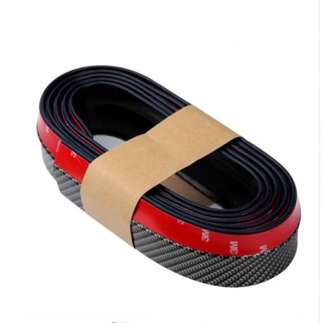 Banda Protectie Spoiler, Bara Tuning Auto Universala din Cauciuc Model Fibra de Carbon 2.5 M
