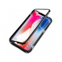 Huse magnetica iPhone X / XS si Folie de protectie cadou. Negru
