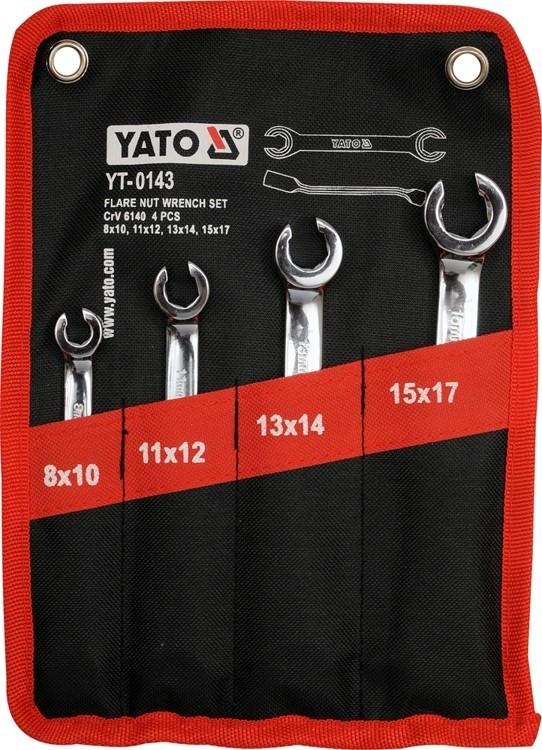 Set 4 chei inelare semideschise Yato YT-0143 imagine techstar.ro 2021