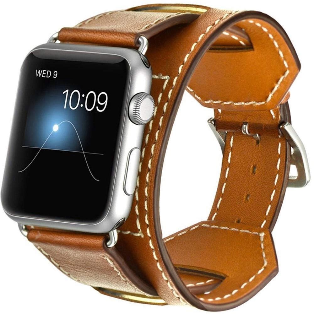 Curea pentru Apple Watch 44mm Piele 4 in 1 iUni Cuff Maro
