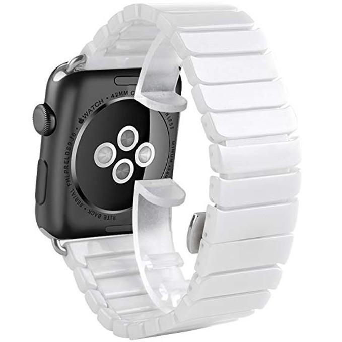 Curea pentru Apple Watch 40mm iUni Ceramic Belt, White