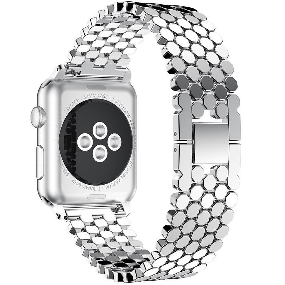 Curea pentru Apple Watch Silver Jewelry iUni 44mm Otel Inoxidabil