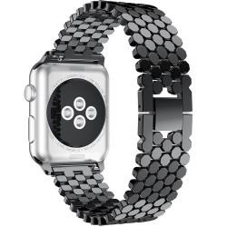 Curea pentru Apple Watch Black Jewelry iUni 44mm Otel Inoxidabil