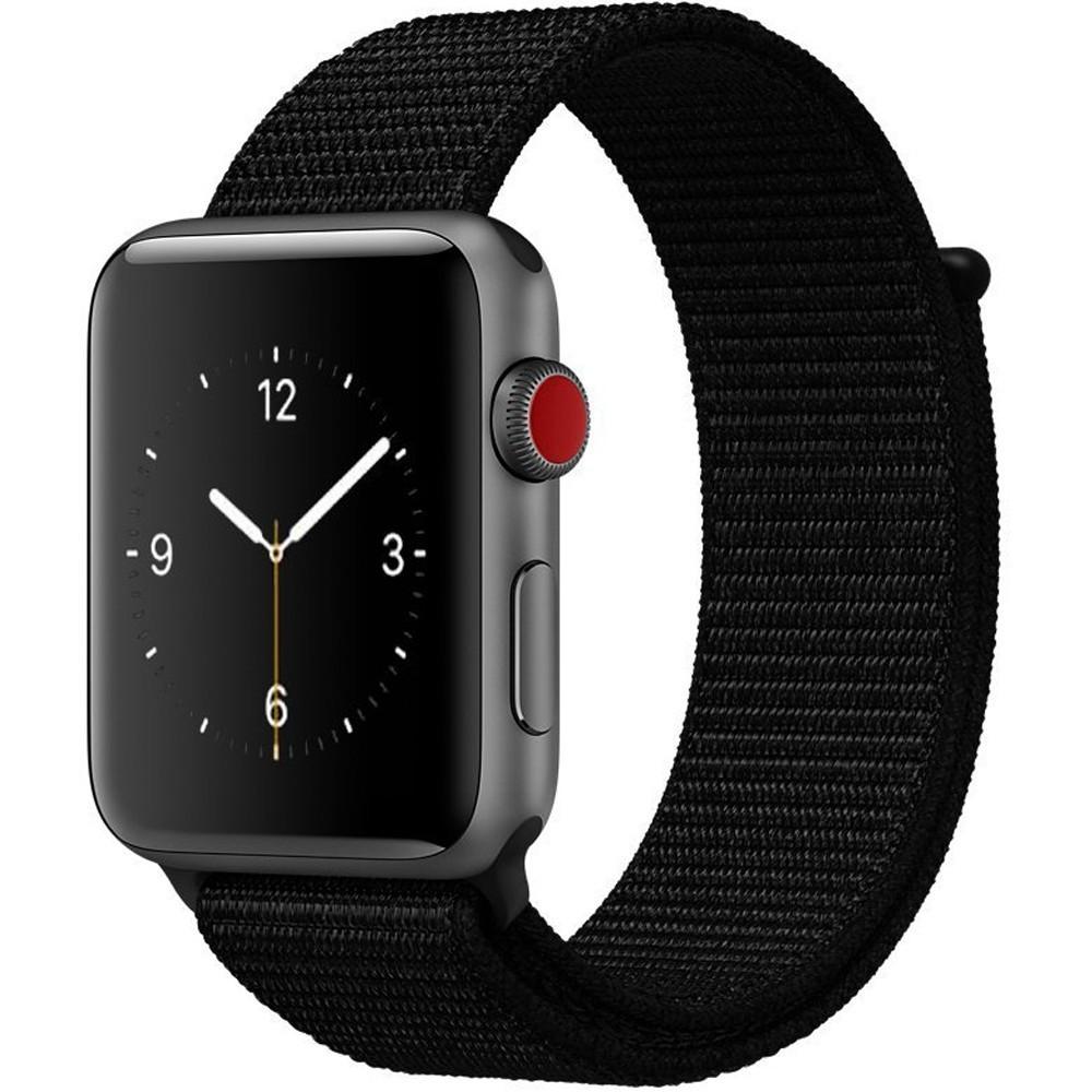 Curea pentru Apple Watch 44mm iUni Woven Strap, Nylon Sport, Black imagine techstar.ro 2021