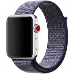 Curea pentru Apple Watch 44mm iUni Woven Strap, Nylon Sport, Midnight Blue