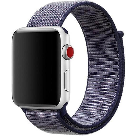 Curea pentru Apple Watch 44mm iUni Woven Strap, Nylon Sport, Midnight Blue