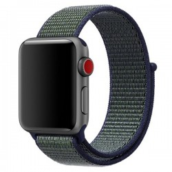 Curea pentru Apple Watch 40mm iUni Woven Strap, Nylon Sport, Navy Blue-Green