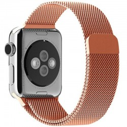 Curea pentru Apple Watch Rose Gold Milanese Loop iUni 44mm Otel Inoxidabil