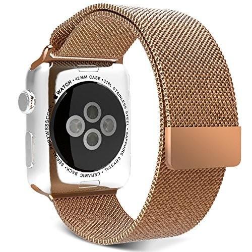 Curea pentru Apple Watch Gold Milanese Loop iUni 44mm Otel Inoxidabil