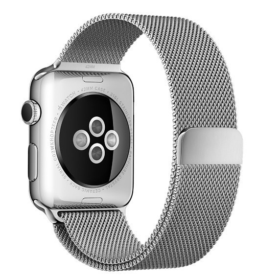 Curea pentru Apple Watch Silver Milanese Loop iUni 44mm Otel Inoxidabil