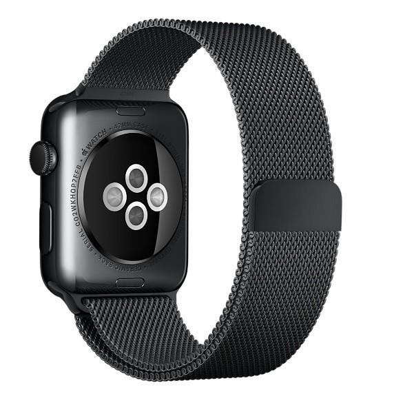 Curea pentru Apple Watch Black Milanese Loop iUni 40mm Otel Inoxidabil