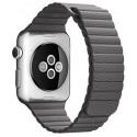 Curea piele pentru Apple Watch 44mm iUni Dark Gray Le