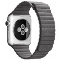 Curea piele pentru Apple Watch 40mm iUni Dark Gray Le