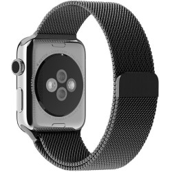 Curea pentru Apple Watch Space Gray Milanese Loop iUni 42mm Otel Inoxidabil