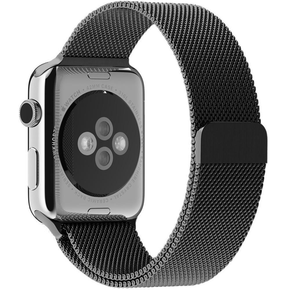 Curea pentru Apple Watch Space Gray Milanese Loop iUni 42mm Otel Inoxidabil