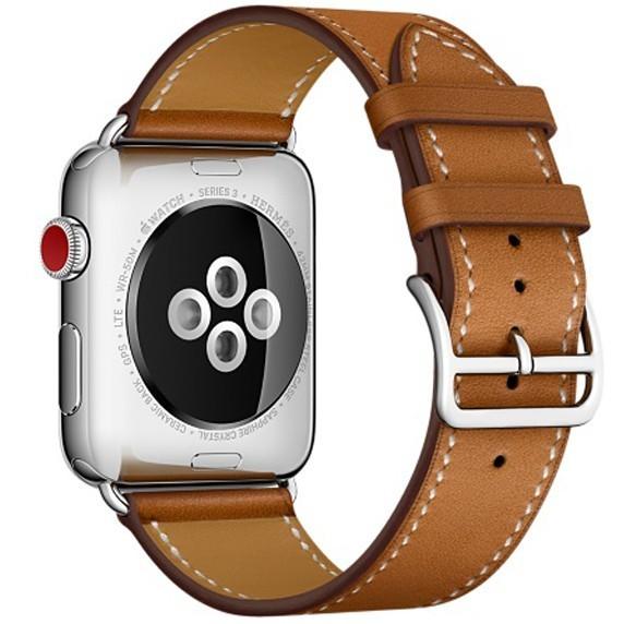 Curea pentru Apple Watch 40mm piele iUni Single Tour Maro