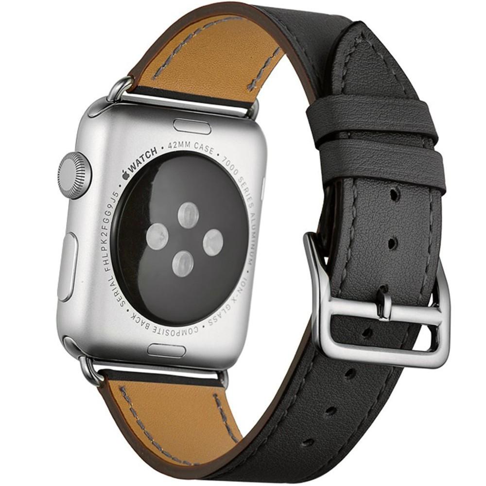 Curea pentru Apple Watch 40mm piele iUni Single Tour Negru imagine techstar.ro 2021
